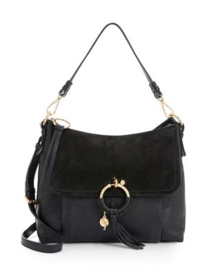 Joan Medium Leather Shoulder Bag by See By Chloé