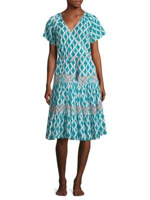 Roller Rabbit  Orchards Of Marrakesh Lantern Zineb Wrap Dress