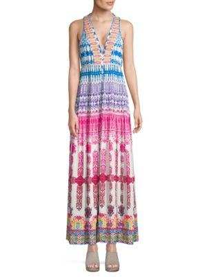 Rococo Sand V-Neck Maxi Dress