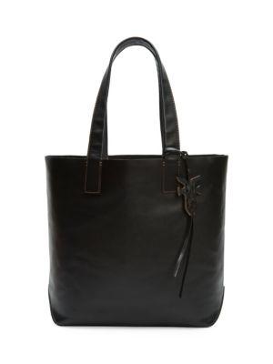 Carson Leather Tote - Black