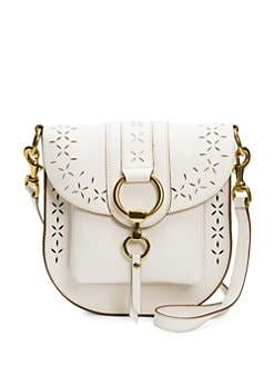 845d17f330 Frye - Ilana White Perforated Leather Saddle Bag