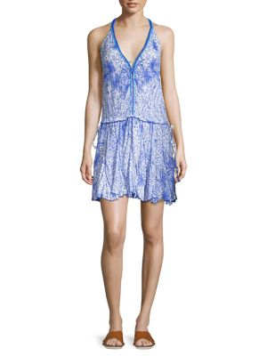 Poupette St Barth Nola Halter Mini Dress