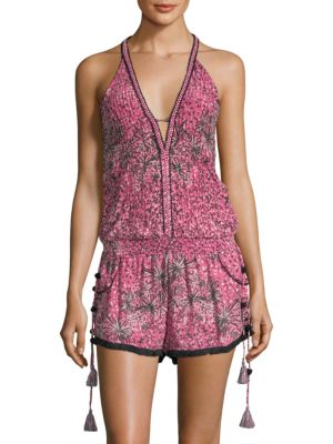 Poupette St Barth Nola Silk Short Jumpsuit