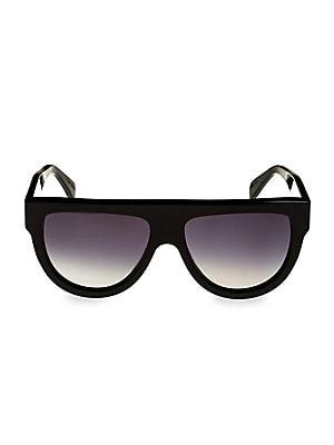 345caa4cca9 CELINE - Flat Top Universal Fit Aviator Sunglasses - saks.com
