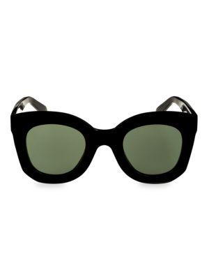 46Mm Square Sunglasses - Dark Havana, Black