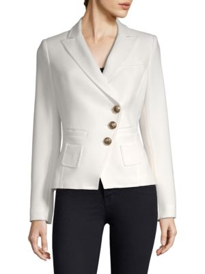 Asymmetric Wrap Blazer by Smythe