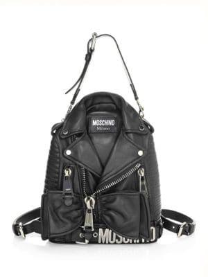 Biker Convertible Backpack, Black