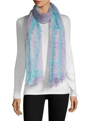 BAJRA Wool & Silk Tie-Dye Scarf in Lilac