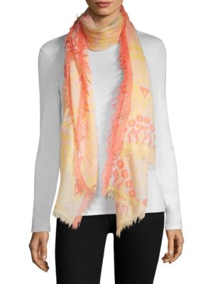 BAJRA Wool & Silk Tie-Dye Scarf in Yellow