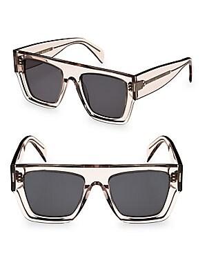 bb762527ba56 CELINE - Transparent Smoke Flat Square Sunglasses - saks.com