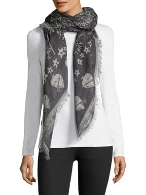 Tour Date Wool Blend Shawl by Givenchy