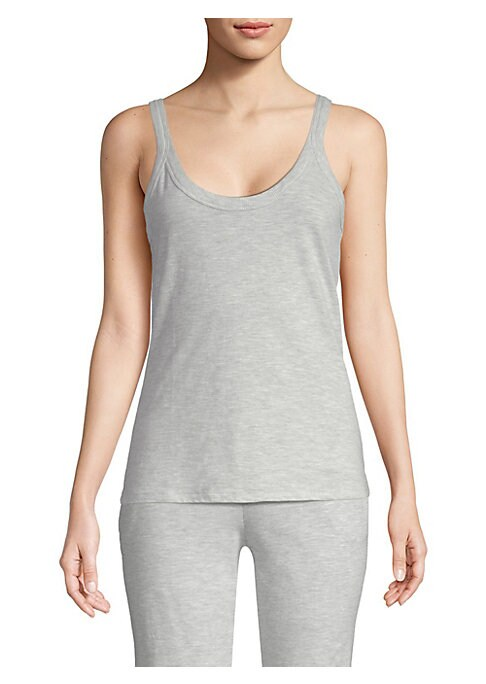 "Image of Sleepwear separate in soft stretch cotton. Scoopneck. Sleeveless. About 24"" from shoulder to hem. Cotton/spandex. Machine wash. Imported."