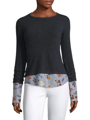 Combination Sweater And Floral Shirt by Bailey 44