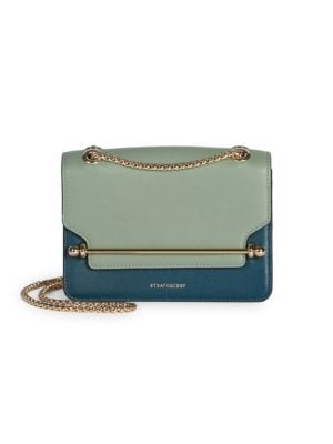 Strathberry Mini East/West Tri-Color Leather Shoulder Bag