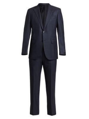 HZWL Mans Slim Plaid Modern Fit Two Button 4-Piece Suit Blazer Dress Suit Jacket Tie Tux Vest /& Trousers
