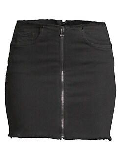 15c8123af Cotton Citizen. Zipper Mini Skirt
