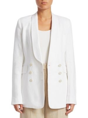 Shawl Collar Linen Blazer by Theory