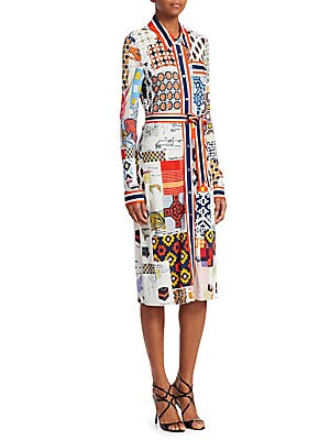 77f37d0fab7 Tory Burch - Laurence Printed Shirtdress - saks.com