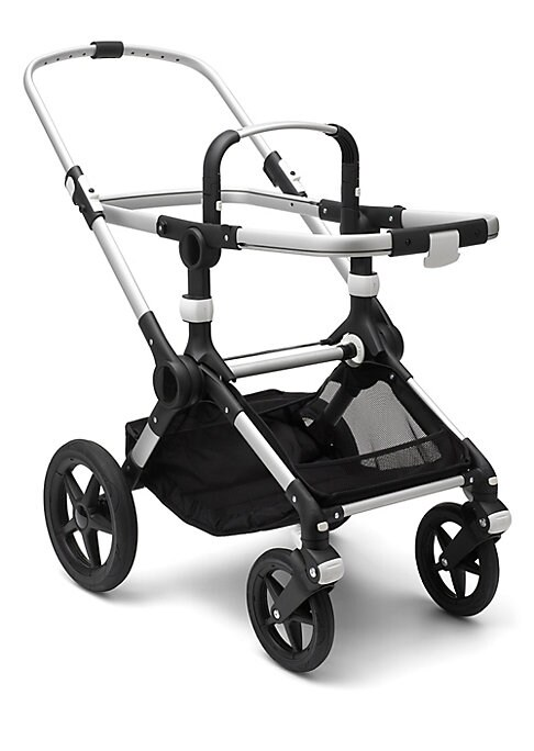 Image of Create your own Bugaboo Fox to suit your style with this stroller base. The Bugaboo Fox provides the most comfortable stroll; is designed to last; and is strong and sturdy, yet ultralight & compact. Central joint suspension & front wheel suspension. Bugab