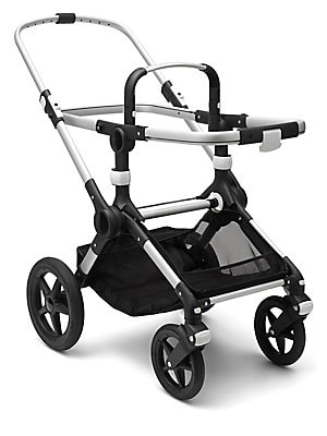 Image of Create your own Bugaboo Fox to suit your style with this stroller base. The Bugaboo Fox provides the most comfortable stroll; is designed to last; and is strong and sturdy, yet ultralight & compact. Central joint suspension & front wheel suspension Bugabo