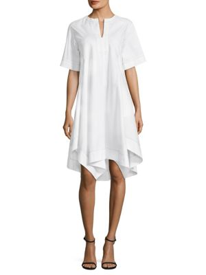 Draped Shirtdress by Donna Karan New York