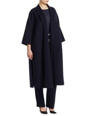Marina Rinaldi, Plus Size Tema Long Wool Coat