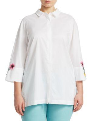 Marina Rinaldi Plus Size Floral Sleeve Shirt