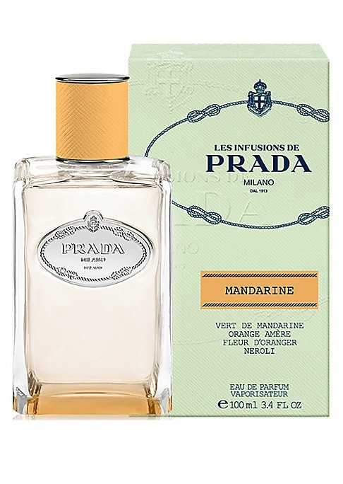 Image of Infusion Mandarine is the first citrus to join Les Infusions de Prada, introducing a new scent memory to the collection that evokes the explosive sensation of a fresh mandarin. Blending innovative extraction methods with traditional artistry, Infusion Man