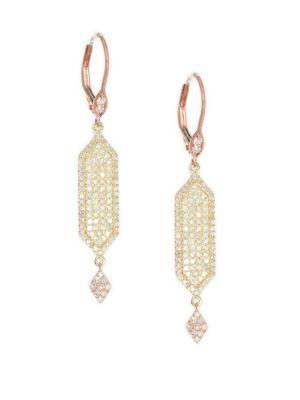 Meira T Diamond 14k Rose Gold 14k Yellow Gold Two Tone Drop Earrings