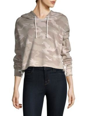 GENERATION LOVE Kiko Kamo Sweatshirt in Sage Camo