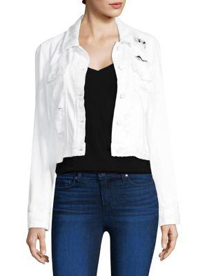 Paige  Distressed Crop Jacket