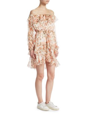 Whitewave Off The Shoulder Mini Dress by Zimmermann