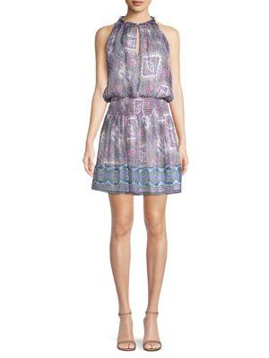 Shoshanna Aditi Printed Blouson Dress