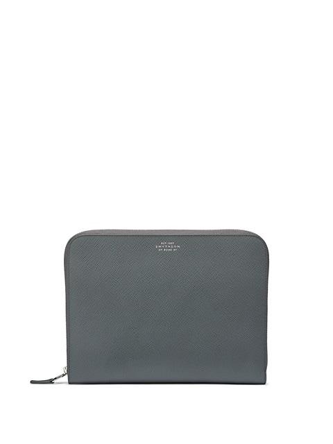 Medium Panama Leather Zip-Around Wallet
