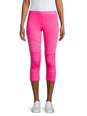 Performance Essentials Crop Leggings, Solar Pink