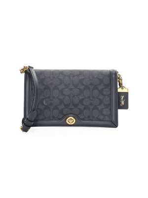 Signature Monogram Coated Canvas & Leather Crossbody Bag by Coach