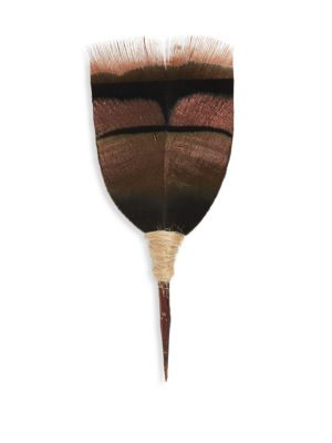 BRACKISH Classic Feather Pin in Brown