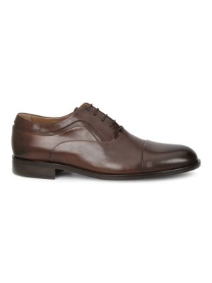 Sassiolo Leather Cap Toe Oxfords, Brown
