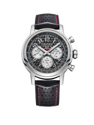 Chopard Mille Miglia Stainless Steel & Leather-Strap Chronograph Watch