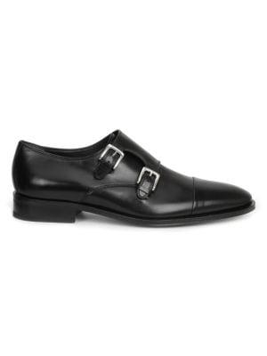 BRUNO MAGLI Men'S Mico Monk Strap Loafers in Black