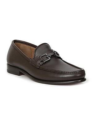 c31807cfe214 Salvatore Ferragamo - Crown Gancini Bit Leather Loafers - saks.com