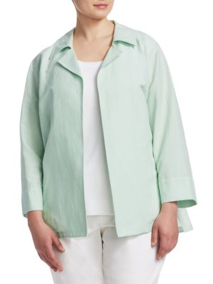 Lafayette 148 New York Plus Size Tate Cotton Linen Jacket