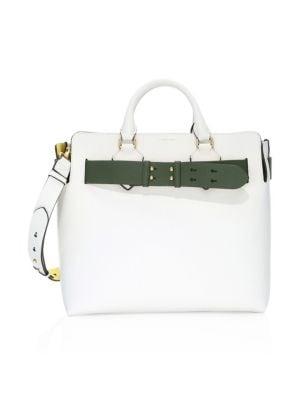Burberry Marais Belt Leather Shoulder Bag In Chalk   ModeSens 374258340b