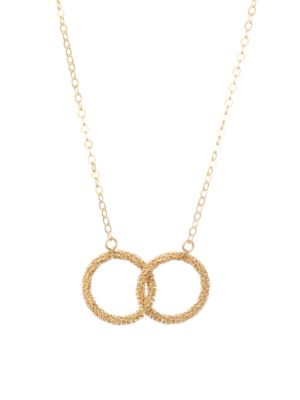 AMALI 18K Yellow Gold Stardust Interlock Necklace