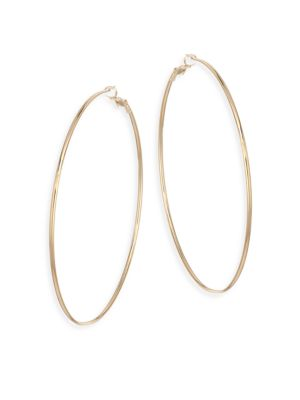 Large Gold Hoops by Kenneth Jay Lane