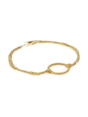 Amali 18k Yellow Gold Knotted Chain Link Bracelet