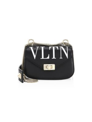 Small Leather Shoulder Bag - White in Ner Bl/Wh