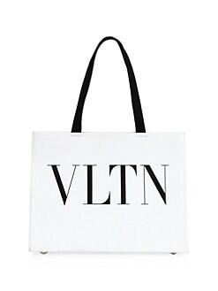 8e6b423a48310 Valentino Garavani - Leather Logo Tote Bag