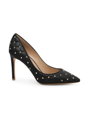 Rockstud Spike Pointed-Toe Pumps in Black