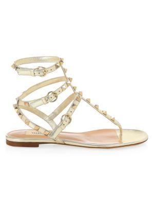 Rockstud Thong Gladiator Sandals by Valentino Garavani
